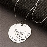 Mother's Personalized Stacking Discs Necklace -3 Discs - 13100D-3