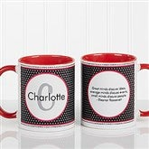 Polka Dot Monogram Personalized Coffee Mug 11oz.- Red - 13137-R