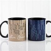 Cascading Names Personalized Coffee Mug 11oz.- Black - 13138-B