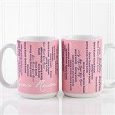 Cascading Names Personalized Coffee Mug 15oz.- White - 13138-L