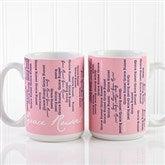 Cascading Names Personalized Coffee Mug 15oz.- White - 13138-L