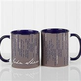 Cascading Names Personalized Coffee Mug- 11oz.- Blue - 13138-BL