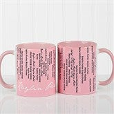 Cascading Names Personalized Coffee Mug- 11oz.- Pink - 13138-P