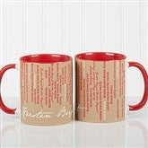 Cascading Names Personalized Coffee Mug- 11oz.- Red - 13138-R