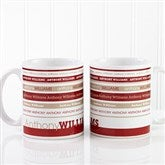 Signature Stripe Personalized Coffee Mug 11oz.- White - 13148-S