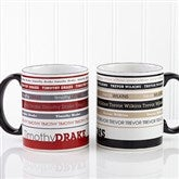 Signature Stripe Personalized Coffee Mug 11oz.- Black - 13148-B