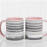 Signature Stripe Personalized Coffee Mug 11oz.- Pink - 13148-P