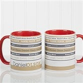 Signature Stripe Personalized Coffee Mug 11oz.- Red - 13148-R
