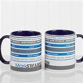 Signature Stripe Personalized Coffee Mug 11oz.- Blue - 13148-BL