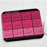 It's a Date! Personalized Calendar & Quote Mouse Pad - 13149