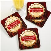 Premium Brew Personalized Coasters - 13150
