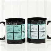It's a Date! Personalized Calendar Mug 11oz.- Black - 13164-B