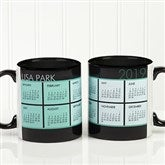 It's a Date! Personalized Calendar Mug 11oz.- Black - 13164-B