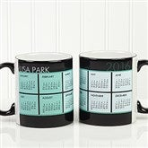 It's a Date! Personalized Calendar Black Handle Mug- 11oz. - 13164-B