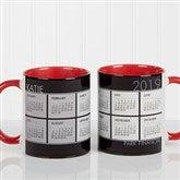It's a Date! Personalized Calendar Coffee Mug 11oz.- Red - 13164-R