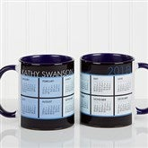 It's a Date! Personalized Calendar Coffee Mug 11oz.-Blue - 13164-BL