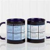 It's a Date! Personalized Calendar Coffee Mug 11oz.-Blue - 13164-BL