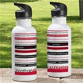 Signature Stripe Personalized Water Bottle - 13167-1