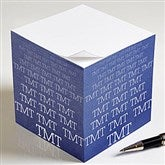 Optic Name Personalized Paper Note Cube - 13170