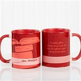 Teaching Professions Personalized Coffee Mug 11oz.- Red - 13172-R