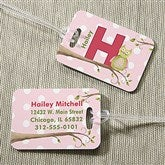 Owl About You Personalized Luggage Tag 2 Pc Set - 13178