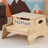 KidKraft Personalized Step 'n Store Stool-Natural - 13191D-N