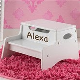 KidKraft Personalized Step 'n Store Stool-White - 13191D-W