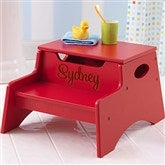 KidKraft Personalized Step 'n Store Stool-Red - 13191D-R