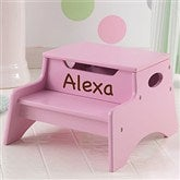 KidKraft Personalized Step 'n Store Stool-Pink - 13191D-PK