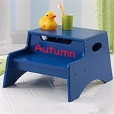 KidKraft Personalized Step 'n Store Stool- Blue - 13191D-B