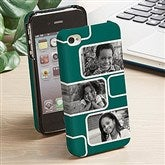 Modern Photo Collage iPhone 4 Cell Phone Hardcase- 3 Photo - 13216-3