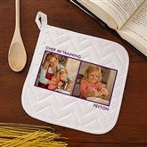 Picture Perfect Personalized Potholder - Two Photo - 13220-P2
