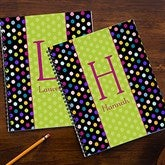 Polka Dots For Her Personalized Large Notebooks-Set of 2 - 13222
