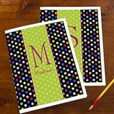 Polka Dots For Her Personalized Folders For Girls - Set of 2 - 13223
