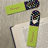 Polka Dots For Her Personalized Bookmark Set for Girls - 13224