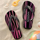 Animal Print Girl's Personalized Flip Flops - 13225
