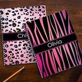 Animal Print Personalized Large Notebooks-Set of 2 - 13226