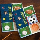 Ready, Set, Score Personalized Large Notebooks For Boys-Set of 2 - 13240