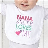 Somebody Loves Me Personalized Bib - 13244-B