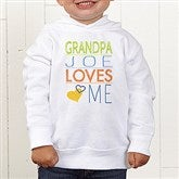 Somebody Loves Me Personalized Toddler Hooded Sweatshirt - 13244-CTHS
