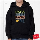 Somebody Loves Me Personalized Youth Hooded Sweatshirt - 13244-BHS