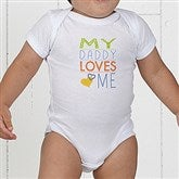 Somebody Loves Me Personalized Baby Bodysuit - 13244-CBB