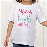 Somebody Loves Me Personalized Toddler T-Shirt - 13244TT