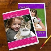 Photo Excitement Personalized Folders - Set of 2 - 13247