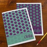 Trendy Polka Dots Personalized Folders - Set of 2 - 13248