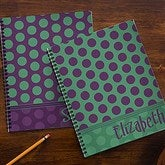 Trendy Polka Dots Personalized Large Notebooks-Set of 2 - 13249