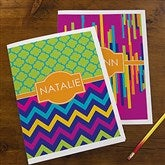 Bright & Cheerful Personalized Folders - Set of 2 - 13285