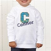 His Name Personalized Toddler Hooded Sweatshirt - 13297-CTHS