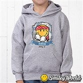 Smiley Jr.® Pirate Personalized Youth Hooded Sweatshirt - 13298-YHS