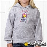 Smiley Girl® Personalized Youth Hooded Sweatshirt - 13299-YHS